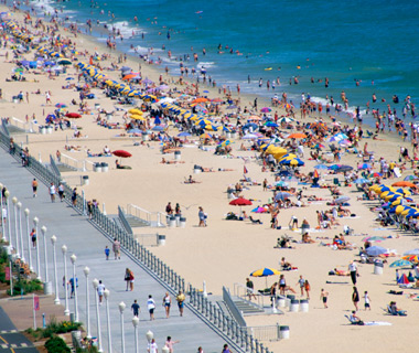 America's Most Crowded Beaches: Virginia Beach