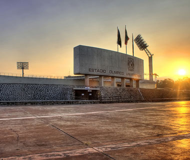 Coolest Olympic Stadiums: Central University City Campus of the UNAM, Mexico