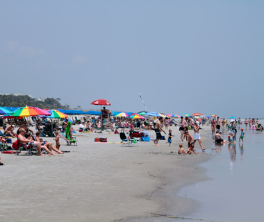 America's Most Crowded Beaches: Shore Beach, Hilton Head Island