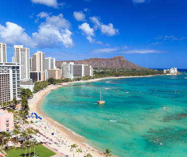 America's Most Crowded Beaches: Waikiki, HI