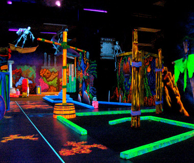 Wackiest Mini-Golf Courses: Glowing Greens
