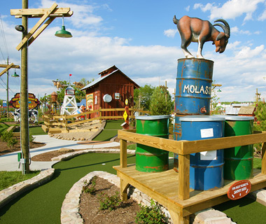 Wackiest Mini-Golf Courses: Ripley's Old MacDonald's Farm Mini Golf