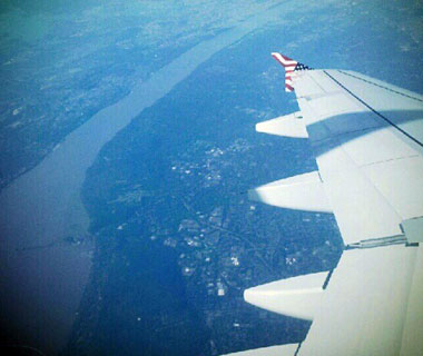 Beautiful Photos from Airplane Windows: Manhattan and New Jersey