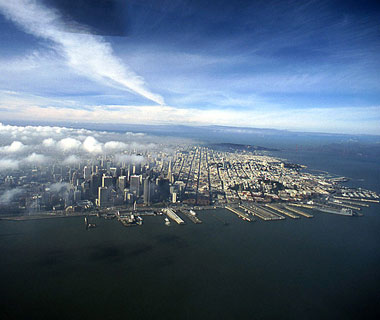 Beautiful Photos from Airplane Windows: San Francisco