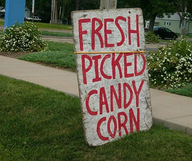 Funny Signs from Around the World: candy corn