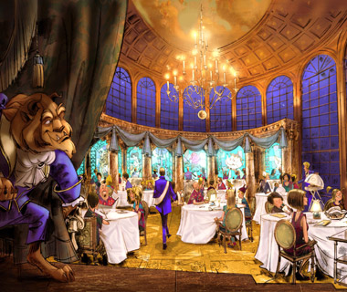Most Romantic Disney Vacations: Be Our Guest restaurant