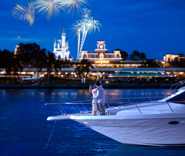 Most Romantic Disney Vacations: Yacht Excursion