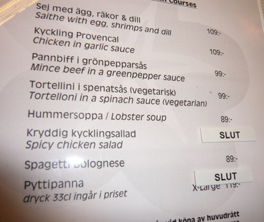 Funniest Menu Mistakes Around the World: Euro exchange rates