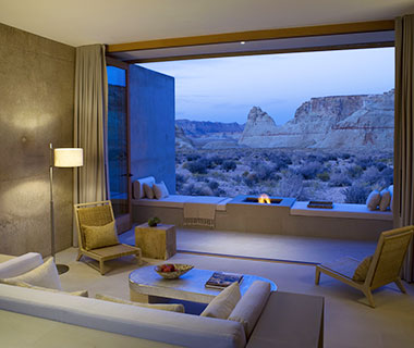 Most Romantic Hotel Fireplaces: Amangiri, UT