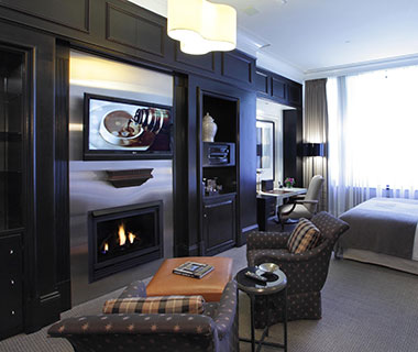 Most Romantic Hotel Fireplaces: XV Beacon, MA