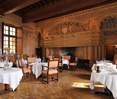 Most Romantic Hotel Fireplaces: Château de Bagnols, France