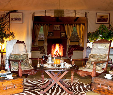 Most Romantic Hotel Fireplaces: Cottar's Camp, Kenya