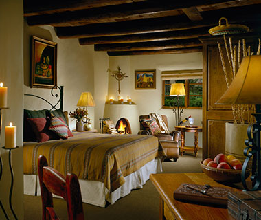 Most Romantic Hotel Fireplaces: La Posada de Santa Fe Resort & Spa, NM