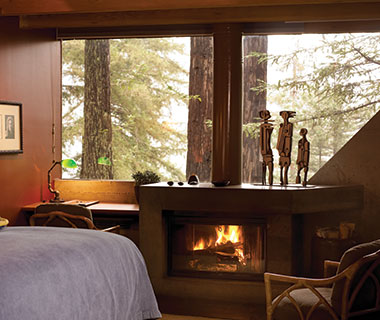 Most Romantic Hotel Fireplaces: Post Ranch Inn, CA