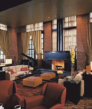 Most Romantic Hotel Fireplaces: Ritz-Carlton Georgetown, Washington, D.C.