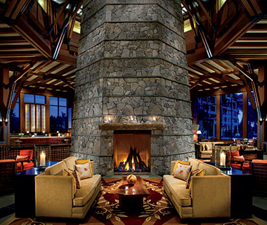 Most Romantic Hotel Fireplaces: The Ritz-Carlton, Lake Tahoe, CA