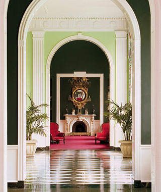 Most Romantic Hotel Fireplaces: The Greenbrier, WV