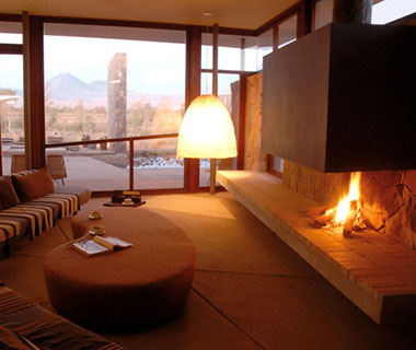 Most Romantic Hotel Fireplaces: Tierra Atacama, Chile