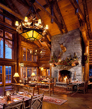 Most Romantic Hotel Fireplaces: Whiteface Lodge, NY