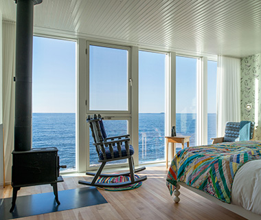 Most Romantic Hotel Fireplaces: Fogo Island Inn, Canada