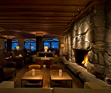 Most Romantic Hotel Fireplaces: The Alpina Gstaad, Switzerland