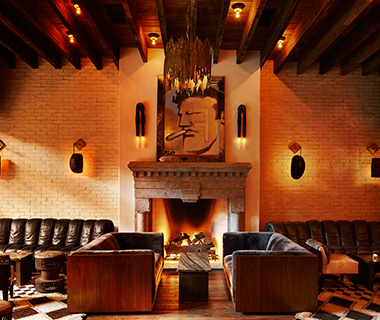 Most Romantic Hotel Fireplaces: Ludlow Hotel, New York