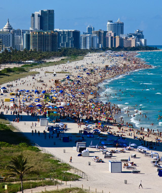America's Most Crowded Beaches: Miami