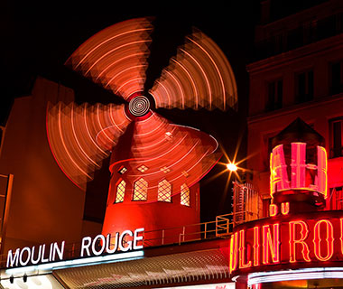 Cool Neon Signs: Moulin Rouge, Paris