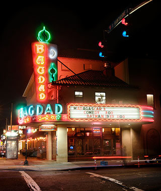 Cool Neon Signs: Bagdad Theater & Pub