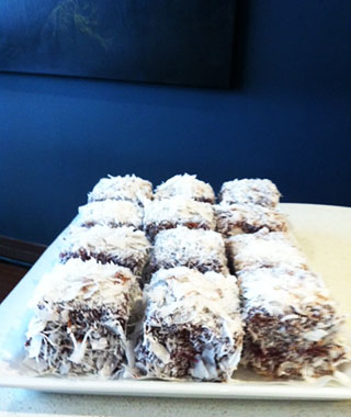 Lamingtons at Flour & Stone, Sydney