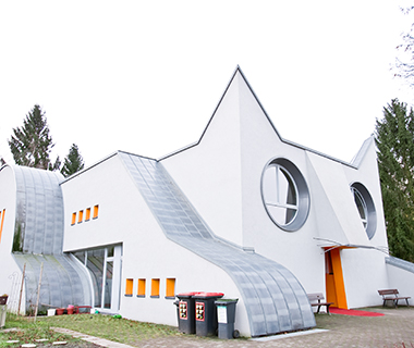 Buildings Shaped Like Animals: Cat Kindergarten