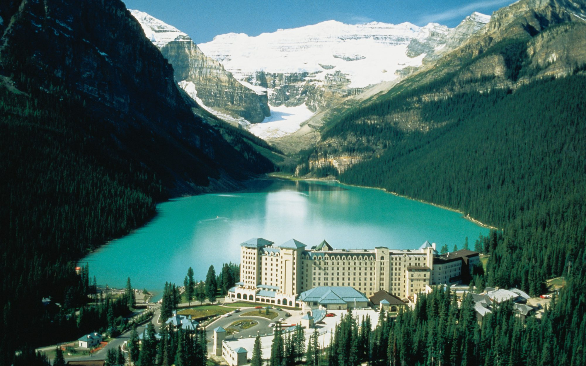 Fairmont Chateau Lake Louise, Banff National Park, Alberta, Canada