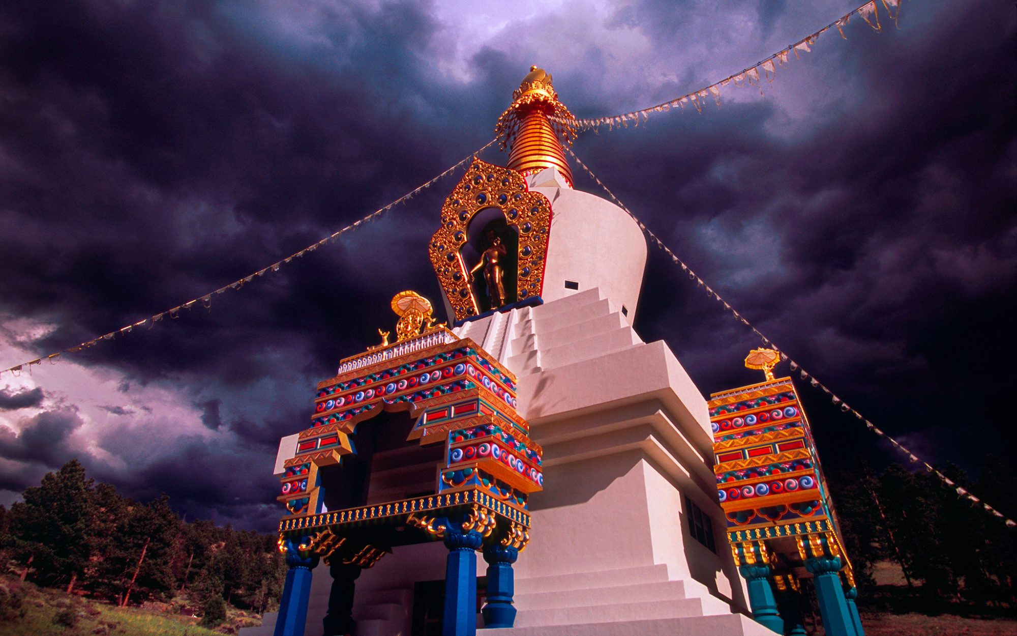 the Great Stupa of Dharmakaya at Shambhala Mountain Center in Red Feather Lakes, CO