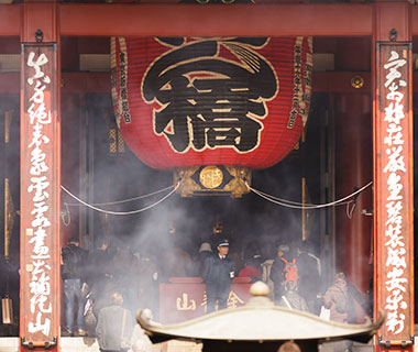 World's Weirdest Superstitions: incense from Sensoji Temple