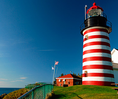 Beautiful Lighthouses in America: West Quoddy Head Light