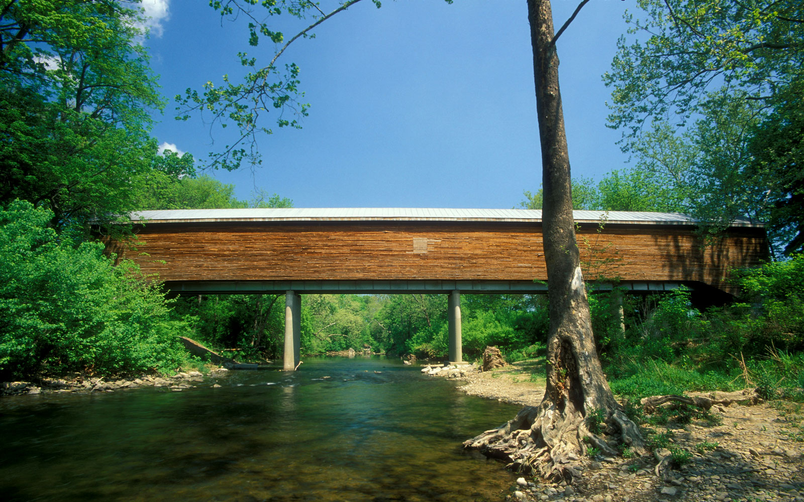 America's Most Beautiful Covered Bridges: Meem's Bottom Bridge