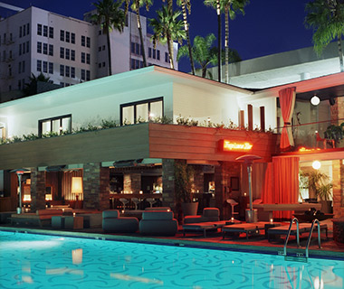 Cool L.A. Hotel Pools: Hollywood Roosevelt Hotel Pool and Tropicana Bar