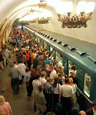 World's Most Crowded Subways: Moscow