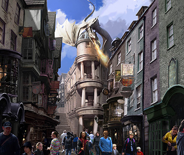 Selfies: Diagon Alley at the Wizarding World of Harry Potter