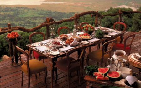 World's Most Amazing Restaurants With a View: Ngorongoro Crater Lodge, Tanzania