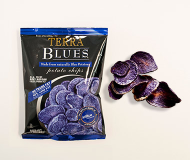 Airline Snacks: Terra Blues Potato Chips, JetBlue