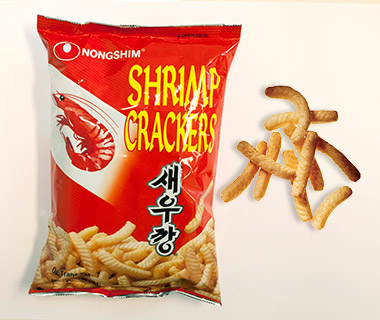 Airline Snacks: Nongshim Shrimp Crackers, Korean Air