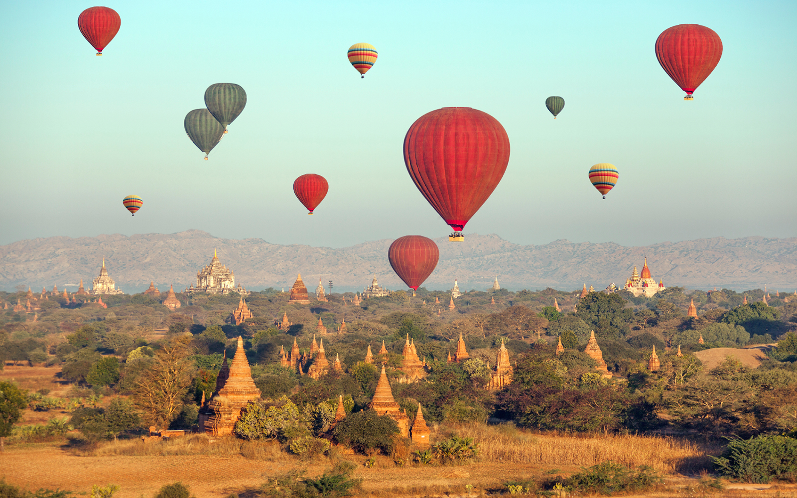 Best Hot-Air Balloon Rides: Bagan, Myanmar