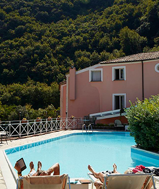 Pool at La Locanda delle Donne Monache Hotel