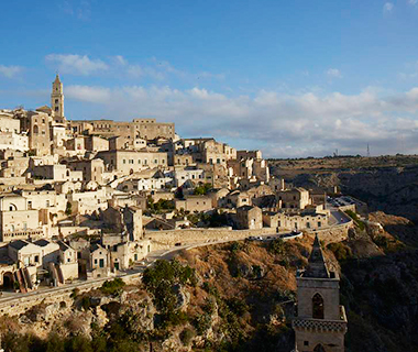 Sunrise view of Sassi di Matera