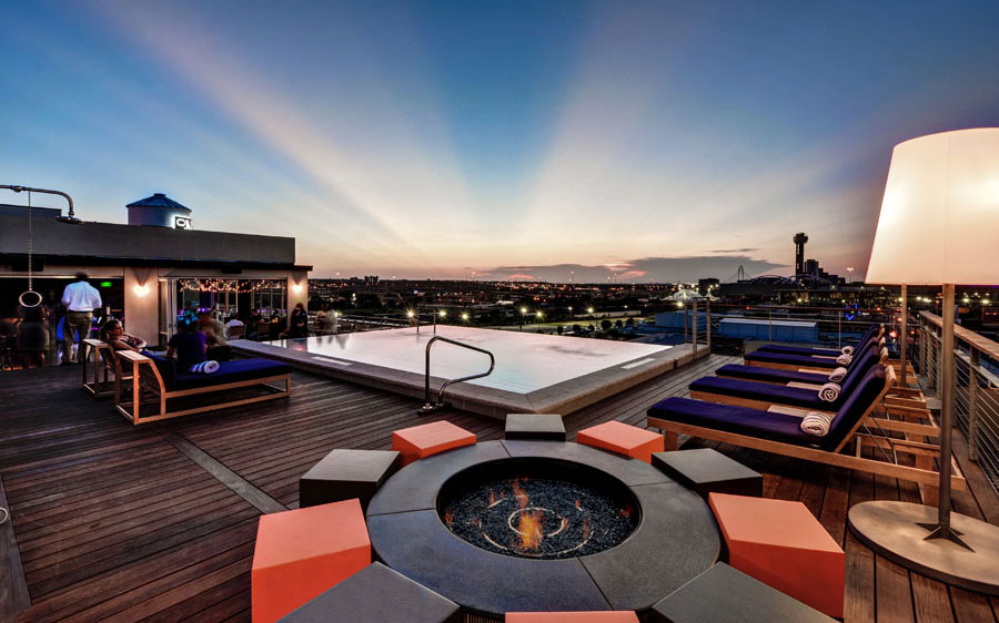 America's Coolest Rooftop Bars: Soda Bar at the Nylo Hotel, Dallas