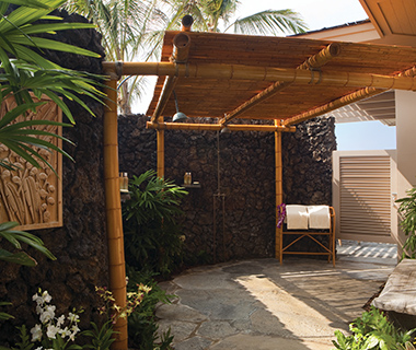 Coolest Outdoor Hotel Showers: Four Seasons Hualalai