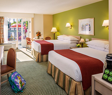 Most Comfortable Hotel Beds: Howard Johnson Anaheim Hotel and Water Playground, CA
