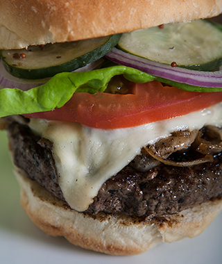 "America's Best Burgers: The ""Zizou"" French Onion Cheeseburger, Dick's Kitchen, Portland, OR"