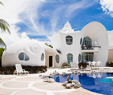 Strangest Vacation Rentals: The Seashell House, Isla Mujeres, Mexico